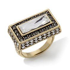 "Heidi Daus ""Spectacular Sautoir"" Crystal Baguette Ring"