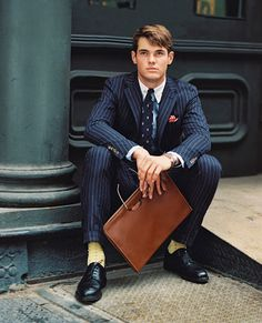Ralph Lauren - suit and yellow socks