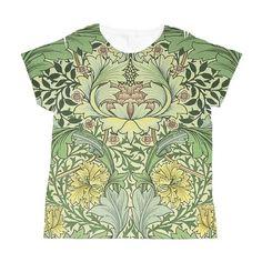 William Morris Design All Over Print T-Shirt