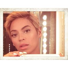 Beyoncé looking flawless with her new haircut.