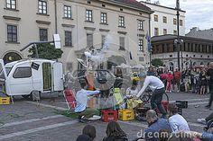 "Each year in the Krakow International Festival of street theatre.Theater Muzikanty from Poland the title of the presentation ""Tank"" Thise month the name of festival are ULICA 28 ( street 28)  link : www.muzikanty.com http://www.karnet.krakow.pl/aktualnosci/teatr/13/28-ulica--miedzynarodowy-festiwal-teatrow-ulicznych-_34238.html"