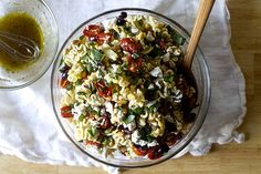 This roasted tomato pasta salad would make for a great side dish at any summer cookout.