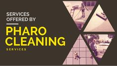 Services Offered By Pharo Cleaning Services