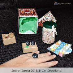 Κυριακή στο σπίτι...: Secret Santa 2015: Ef Zin Creations!