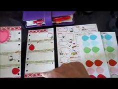 Filofax Weekly Pages Decoration: Week 7 - Valentine's Theme - YouTube