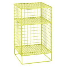Kids Nightstand: Lime Steel Wire Nightstand | The Land of Nod