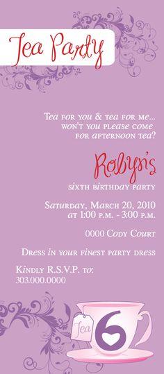 Tea party invite
