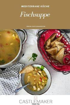 Diese leckere gesunde proteinreiche Fischsuppe ist für alle Meeresfrüchte Fans bestens geeignet. Das einfache Rezept für die leckere Suppe gibt es auf Castlemaker.de Foodblogger, Chana Masala, Post, Ethnic Recipes, German, Chowder Recipes, Delicious Dishes, Chef Recipes, Food Food