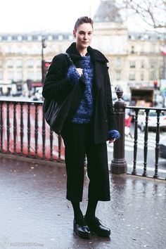 Winter culottes: in Paris