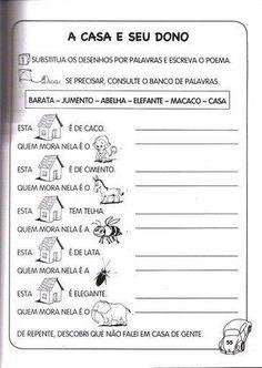 """ATIVIDADES PORTUGUES 1º ANO DO ENSINO FUNDAMENTAL ~ """" Cantinho do Educador…"""