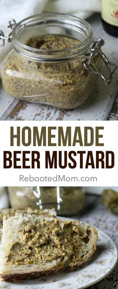 This homemade beer mustard is rich in beer flavor and easy to make with a handful of ingredients - perfect for topping grilled brats burgers and more! Beer Mustard Recipe, Chutney, Ketchup, Grilled Bratwurst, Homemade Mustard, Pork Chop Dinner, Burgers And More, Sauce Barbecue, Homemade Beer
