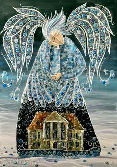 Dear Diary,I saw him today. Foto Picture, Angel Illustration, Angel Artwork, Naive Art, Whimsical Art, Collage Art, Watercolor Art, Folk Art, Art Projects