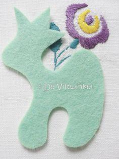 Nieuwe kleur! Wolvilt Arctic Mint 20 bij 30 cm. www.deviltwinkel.nl