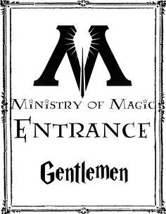 Harry Potter Party Gentlemen Bathroom sign