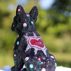 French Bruno by J. Edelweiss, French Bulldog, Butterfly, Sculpture, Photo And Video, Christmas Ornaments, Crystals, Swarovski, Holiday Decor