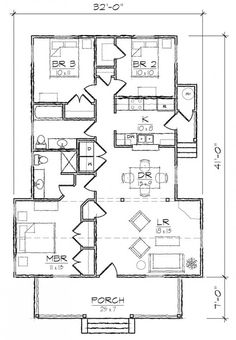 #653989 - 3 Bedroom 2 Bath Cottage Style House Plan : House Plans, Floor Plans, Home Plans, Plan It at HousePlanIt.com