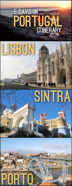 Are you planning a trip to Portugal? Check out how our 5 Days in Portugal Itinerary which includes Lisbon, Sintra and Porto. Are you planning a trip to Portugal? Check out how our 5 Days in Portugal Itinerary which includes Lisbon, Sintra and Porto. Sintra Portugal, Visit Portugal, Spain And Portugal, Portugal Vacation, Portugal Travel Guide, Portugal Trip, Cool Places To Visit, Places To Travel, Travel Destinations