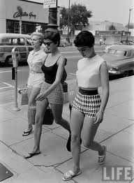 Vintage stylistas sporting the shades of the day