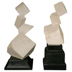 British Abstract Sculptures by M. Evans | From a unique collection of antique and modern sculptures at http://www.1stdibs.com/furniture/more-furniture-collectibles/sculptures/
