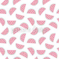 Wassermelonen Stücke Rapportmuster by Madina Zakirova at patterndesigns.com
