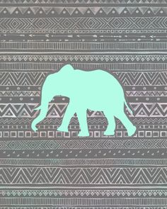 Mint Elephant Art Print by Sunkissed Laughter | Society6