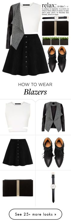 """""""relax"""" by amilla-top on Polyvore featuring BCBGMAXAZRIA, Roger Vivier and Daniel Wellington"""