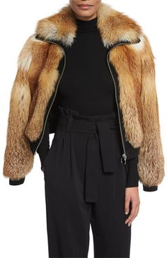 A.L.C. Boyce Fox Fur Bomber Jacket | #Chic Only #Glamour Always