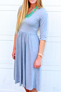 Easy Breezy Day to Night Dress: Solid Heather Gray