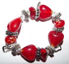 """Forever Love"" Hearts Stretchy Bracelet | eBay $16.99"