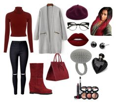 """""""Winter Calling"""" by tiarakukreja-style on Polyvore featuring A.L.C., CHUCKiES New York, Mansur Gavriel, Kathy Jeanne, Lime Crime, Lipsy and Laura Geller"""