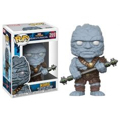 The giant rock warrior Korg, from 2017 Marvel Cinematic Universe film 'Thor: Ragnarok', comes as a POP! Great for Marvel and Funko POP! Funko Pop Marvel, Marvel Pop Vinyl, Funko Pop Toys, Funko Pop Vinyl, Pop Vinyl Figures, Avengers, Thor Marvel, Marvel Comics, Funk Pop