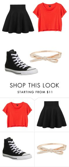 """Untitled #5"" by taliamcelhiney ❤ liked on Polyvore featuring Monki, Converse and Kate Spade"