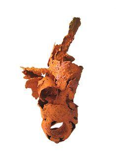 Fabrizio Tridenti : Melted bronze scraps, acrylic paint
