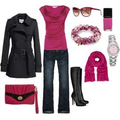 pops of pink, created by rknudsen on Polyvore