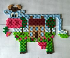 The cow says Perler Beads!