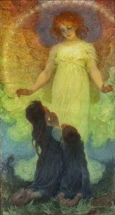 The Guardian Angel, Franz Dvorak, 1911 Holy Art, Henri Fantin Latour, Angel Guide, I Believe In Angels, Angels Among Us, Angel Pictures, Guardian Angels, Guardian Angel Images, Art Uk