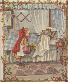 Red Riding Hood ~ Tasha Tudor * Circa, 1960's