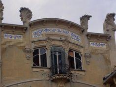 1907 SAVONA (SV) VILLA ZANELLI by PIETRO FENOGLIO (Grazie ad un'analisi degli elementi stilistici si afferma che la villa è stata progettata[2] da Gottardo Gussoni e Pietro Fenoglio, uno dei più importanti architetti dello stile Liberty italiano.)