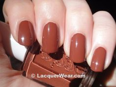 Essie very structured is the best fall nail polish. It looks like pumpkin pie spice!