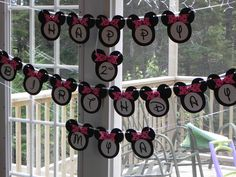 Minnie Mouse B'day Banner I made for my little lady's 2nd b'day party :)