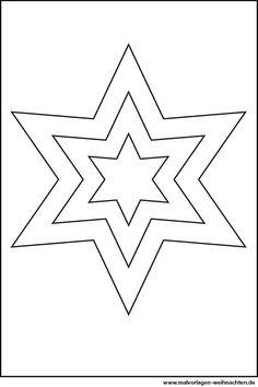 Sterne Zum Ausmalen Ausmalbilder Für Kinder Witraże Okienne