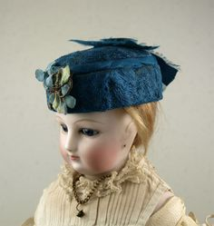 Beautiful Antique French Hat for Huret, Rohmer or other French Fashion from mybebes on Ruby Lane