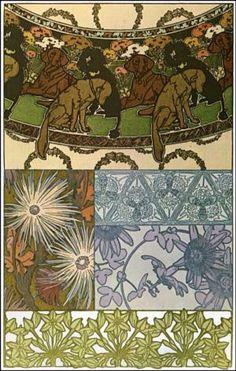 Documents Decoratifs (plate 42), by Alphonse Mucha, France, ca.1901 | Poster