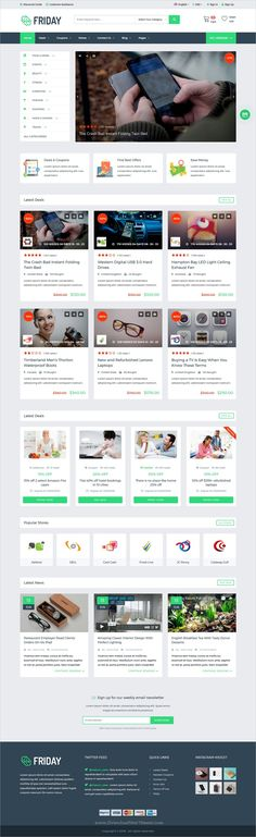 Friday is a wonderful responsive #WordPress theme for #Coupons, #deals, discounts and #promo codes eCommerce website download now➩ https://themeforest.net/item/friday-coupons-deals-discounts-promo-codes-template/19577226?ref=Datasata