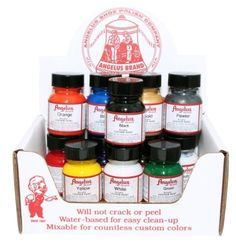 Angelus Acrylic Leather Paint Starter Kit by Angelus, http://www.amazon.com/dp/B00A4FL7NK/ref=cm_sw_r_pi_dp_Auevrb1T4AMV4