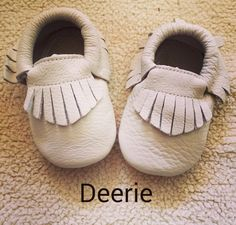 Sale Sand  Beige Colored Baby Moccasins Baby Moccs by deerieandco
