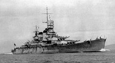 The Italian battleship Roma in 1940 sunk in 1943.