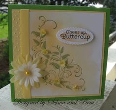 Selma's Stamping Corner and Floral Designs: More Vellum flowers and a Challenge