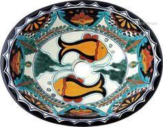 #mexican #bathroom #sink Imagine this beautiful hand painted sink in your bathroom