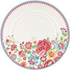 GreenGate Stoneware Plate Maggie White